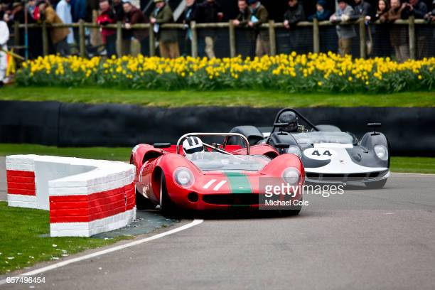 LolaChevrolet T70 Spyder in the Surtees Trophy race during the 75th Member's Meeting at Goodwood on March 18 2017 in Chichester England