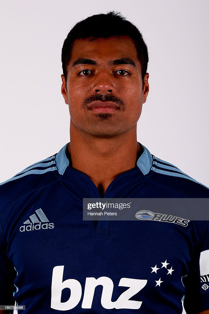Lolagi Visinia poses for a portrait during the 2013 Blues headshots session on February 5, 2013 in Auckland, New Zealand.