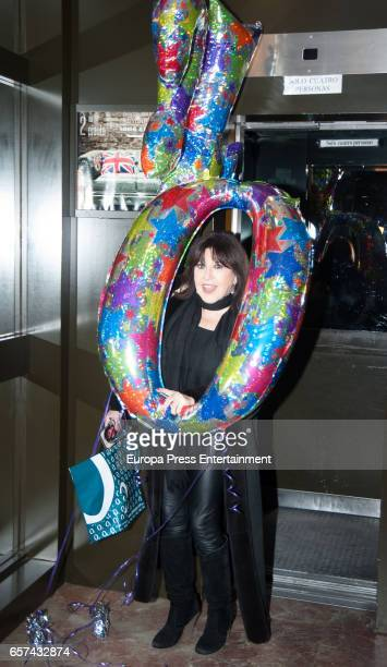 Loles Leon attends the Monica Cruz's 40th birthday party on March 14 2017 in Madrid Spain