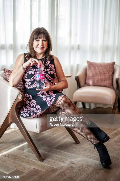 Loles Leon poses for the press during a presentation of '#Muevete' campaign for Breast Cancer awareness at the Soho Barcelona on October 17 2017 in...