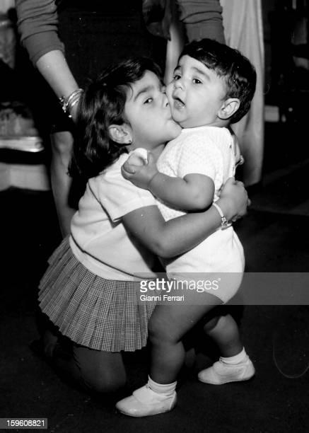 Lolita and Antonio children of the Spanish singer and dancer Lola Flores Madrid Castilla La Mancha Spain