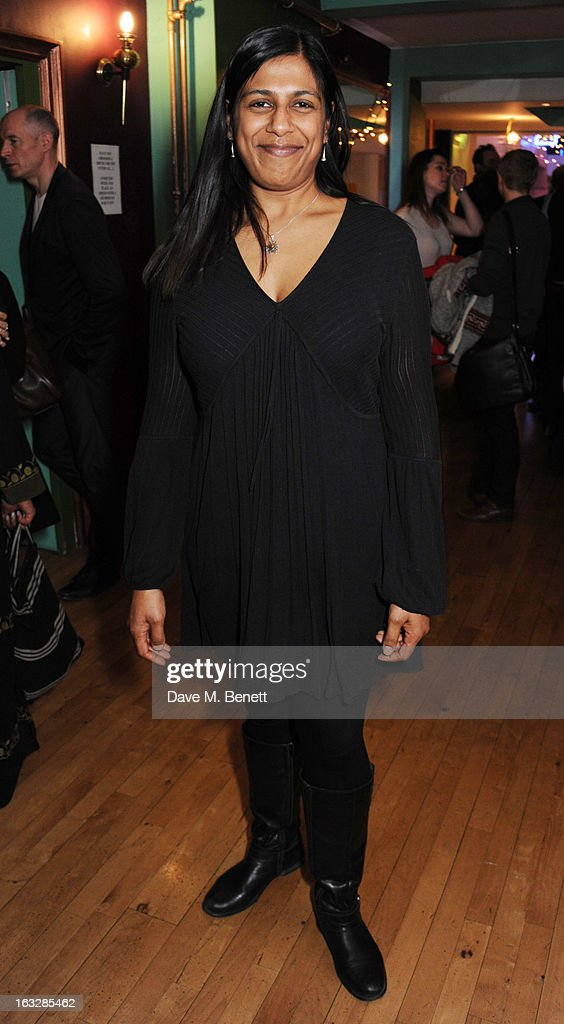 Lolita Chakrabarti attends an after party following the 'Paper Dolls' press night at Tricycle Theatre on March 6, 2013 in London, England.