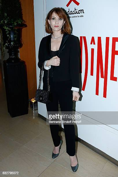 Lolita Chammah attends the Sidaction Gala Dinner 2017 Haute Couture Spring Summer 2017 show as part of Paris Fashion Week on January 26 2017 in Paris...