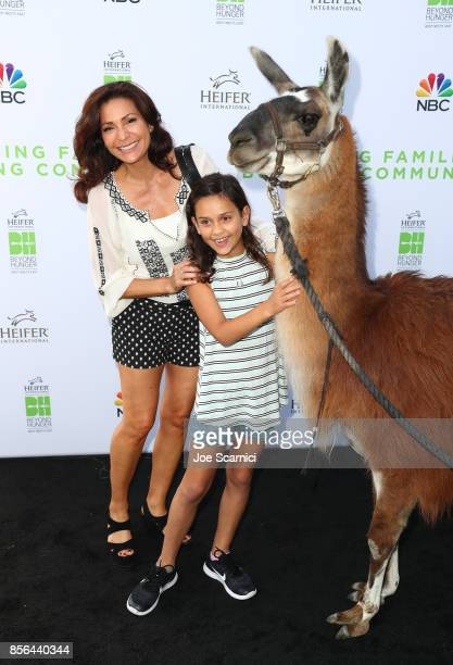 Lolita Davidovich and guest attend 'Beyond Hunger West Meets East' brought to you by NBC Universal and Heifer International at NBC Universal Lot on...