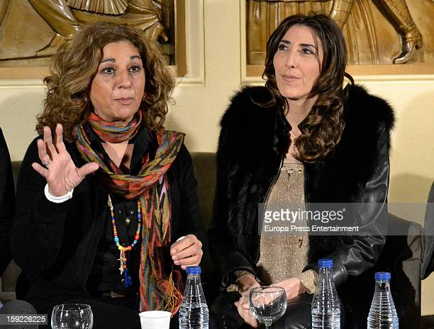 Lolita Flores and Paz Padilla attend the presentation of 'Sofocos' on January 9 2013 in Madrid Spain