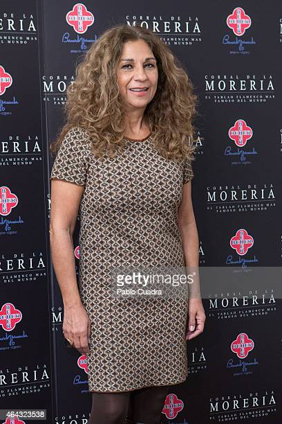 Lolita Flores attends Pata Negra awards ceremony at 'Corral de la Moreria' on February 24 2015 in Madrid Spain