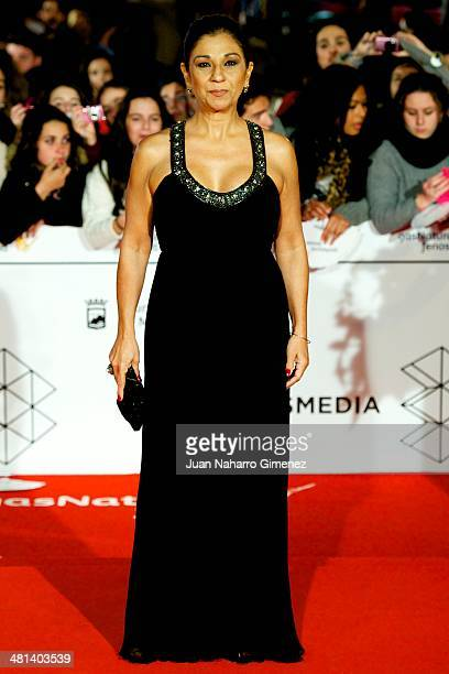 Lolita Flores attends the 17th Malaga Film Festival 2014 closing ceremony at the Cervantes Theater on March 29 2014 in Malaga Spain
