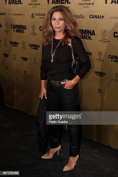 Lolita Flores attends the 'Carmina y Amen' premiere at the Callao cinema on April 28 2014 in Madrid Spain