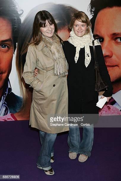 Lolita Lempicka and her daughter attend the premiere of 'Bridget Jones The Edge of Reason' in Paris