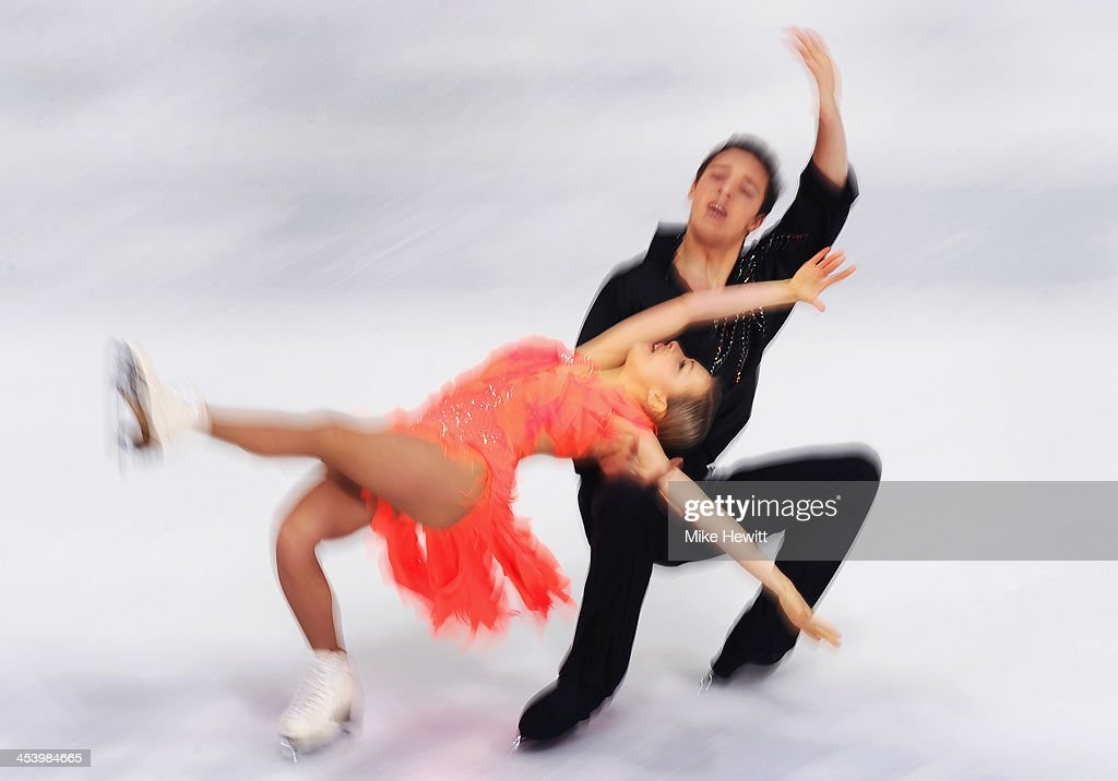 Lolita Yermak and Alexei Shumski of Ukraine in action in the Free Dance during Day Two of the ISU 46th Golden Spin of Zagreb at the Dom Sportova on...