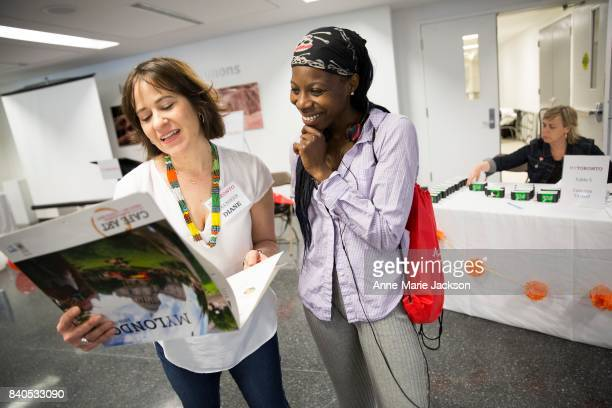 TORONTO ON JUNE 14 2017 Lolley Jeng gets photo inspiration before heading out as part of My Toronto an initiative that engages people who experience...