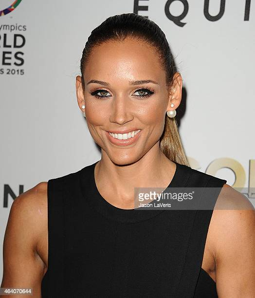 Lolo Jones attends the 3rd annual Gold Meets Golden at Equinox Sports Club West LA on February 21 2015 in Los Angeles California