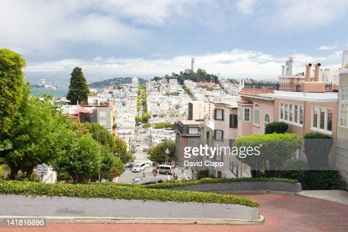 Lombard Street in San Francisco, California, United States of America, North America : Foto de stock