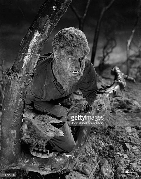 Lon Chaney Jr returns to prey on the living in 'Frankenstein Meets the Wolf Man' directed by Roy William Neill
