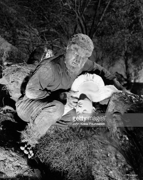 Lon Chaney Junior fights against his lycanthropic nature in 'Frankenstein Meets the Wolf Man' directed by Roy William Neill