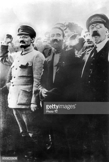 Léon Trotsky and Léon Kamenev 20th century USSR National archives Washington