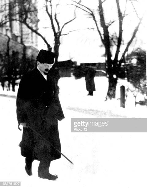Léon Trotsky during the Brestlivosk negociations Russia