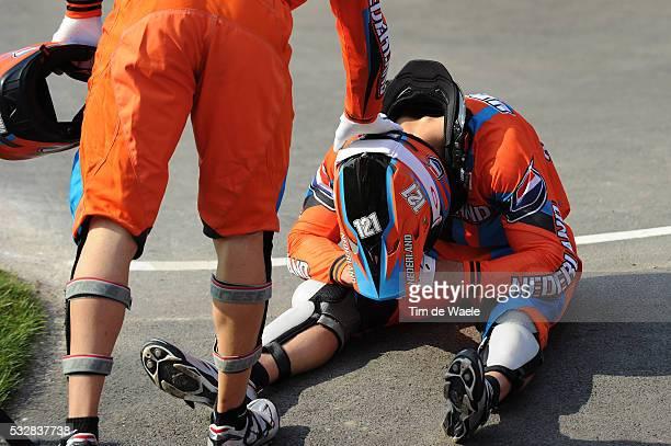 Mens Final Arrival / Raymon VAN DER BIEZEN Deception Teleurstelling / BMX Track Piste / Hommes Mannen / London Olympic Games Jeux Olympique Londres...