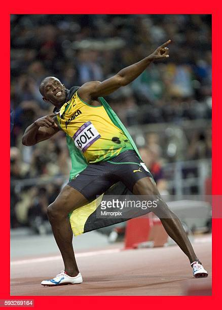 London 2012 Olympic GamesMen's 100m final Usain wins gold ABC0812