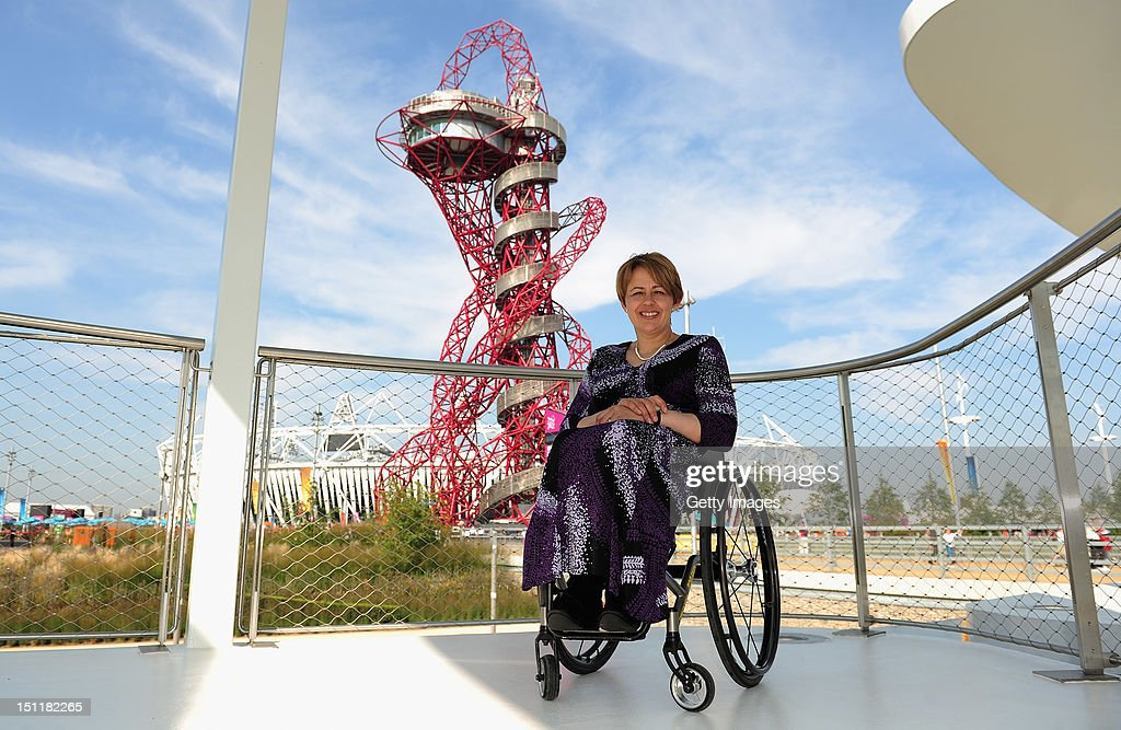 London 2012 Performance Team member <a gi-track='captionPersonalityLinkClicked' href=/galleries/search?phrase=Tanni+Grey-Thompson&family=editorial&specificpeople=167270 ng-click='$event.stopPropagation()'>Tanni Grey-Thompson</a> appears at the BMW Group Pavilion at Olympic Park on September 3, 2012 in London, England.