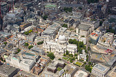 UK, London, Aerial view of St Pauls Cathedral