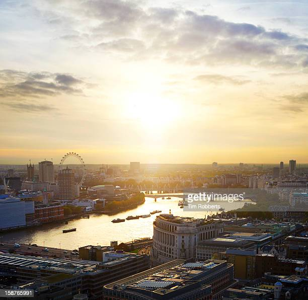 London and The Thames at sunset.