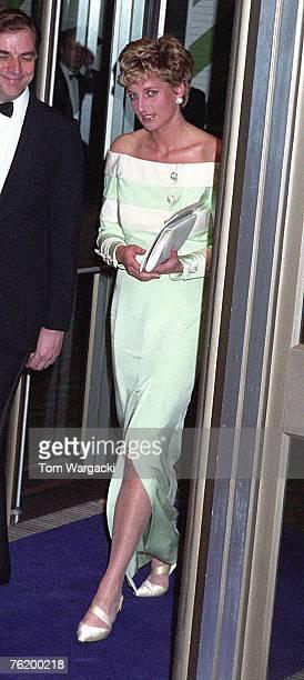 London April 15 Princess Diana at Film Premiere 'Accidental Hero' Odeon West End