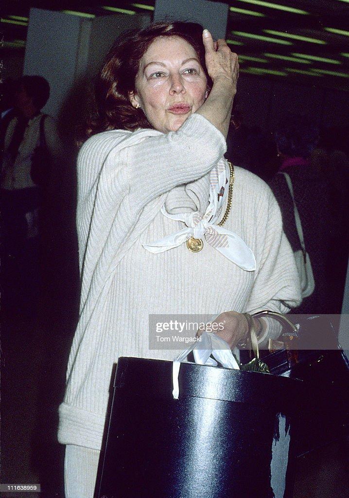 Ava Gardner sighting at Heathrow Airport 1981 | Getty Images Ava Gardner 1989