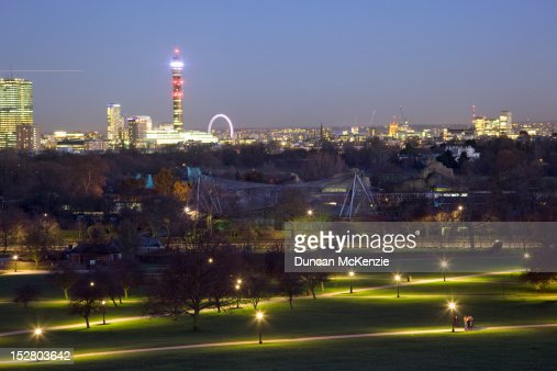 London at night from Primrose Hill