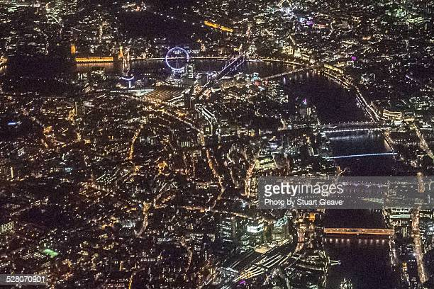 London at night (aerial)