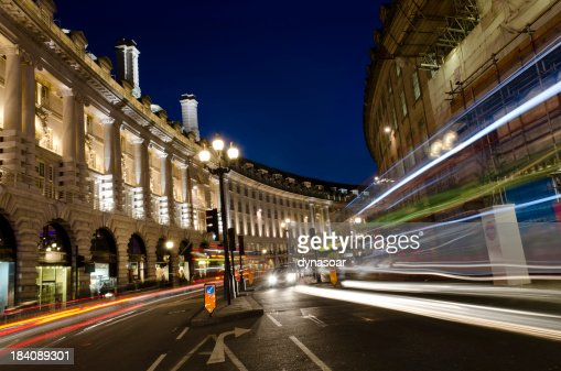 London at night, Regent Street