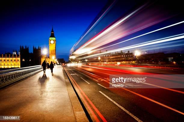 Londra, il Big Ben e il Ponte di Westminster al crepuscolo