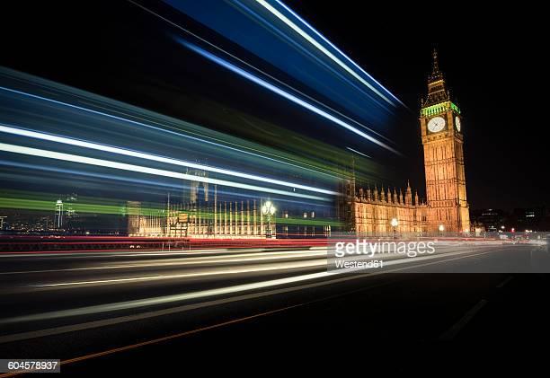 UK, London, Big Ben at night