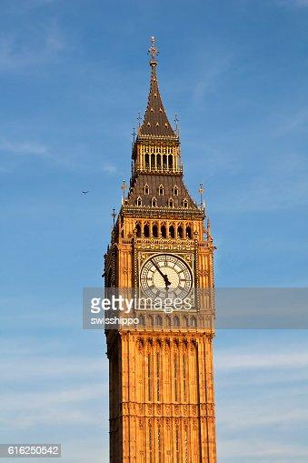 Londres. Torre do relógio Big Ben. : Foto de stock