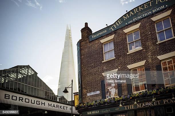 London Borough Market and the Shard, London, UK
