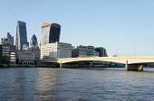 London Bridge and City Skyscrapers