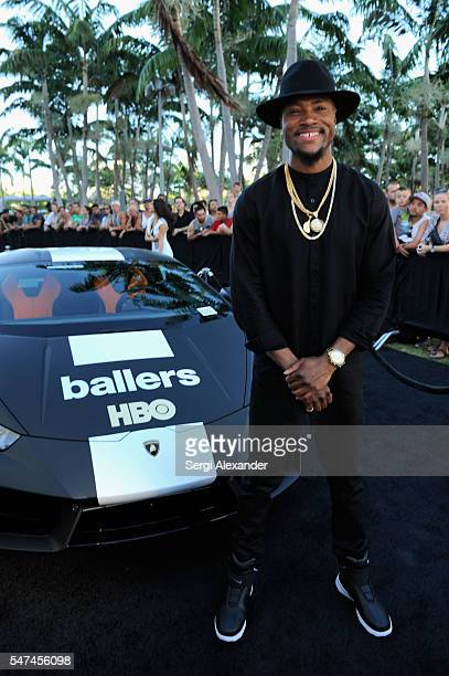 London Brown attends the HBO Ballers Season 2 Red Carpet Premiere and Reception on July 14 2016 at New World Symphony in Miami Beach Florida