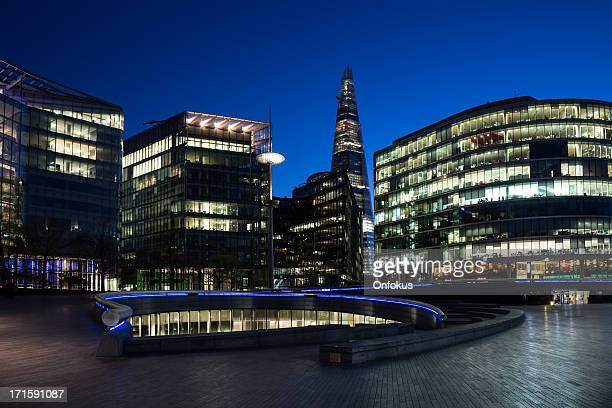 London Buildings and The Shard at Night