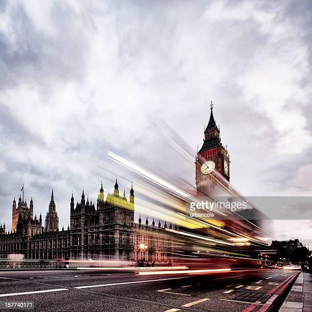 London bus, du Parlement, de Big Ben