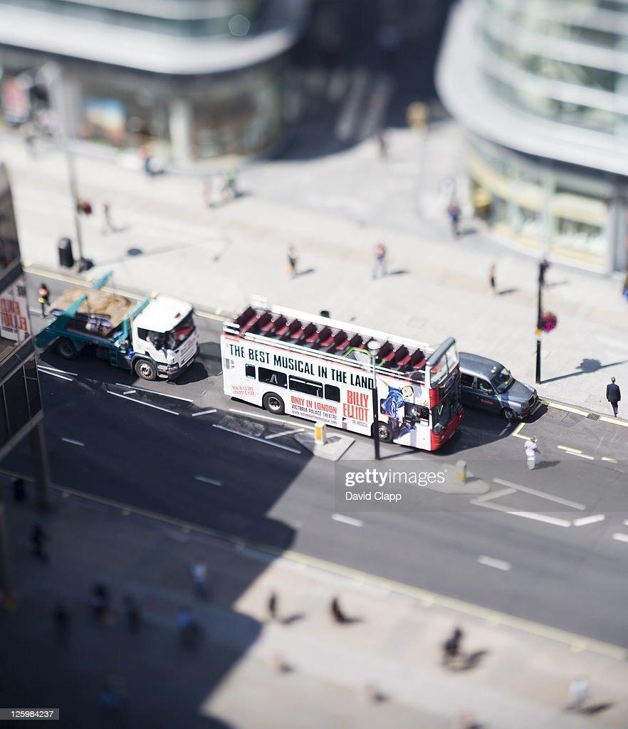 London bus, Westminster, London : Stock Photo
