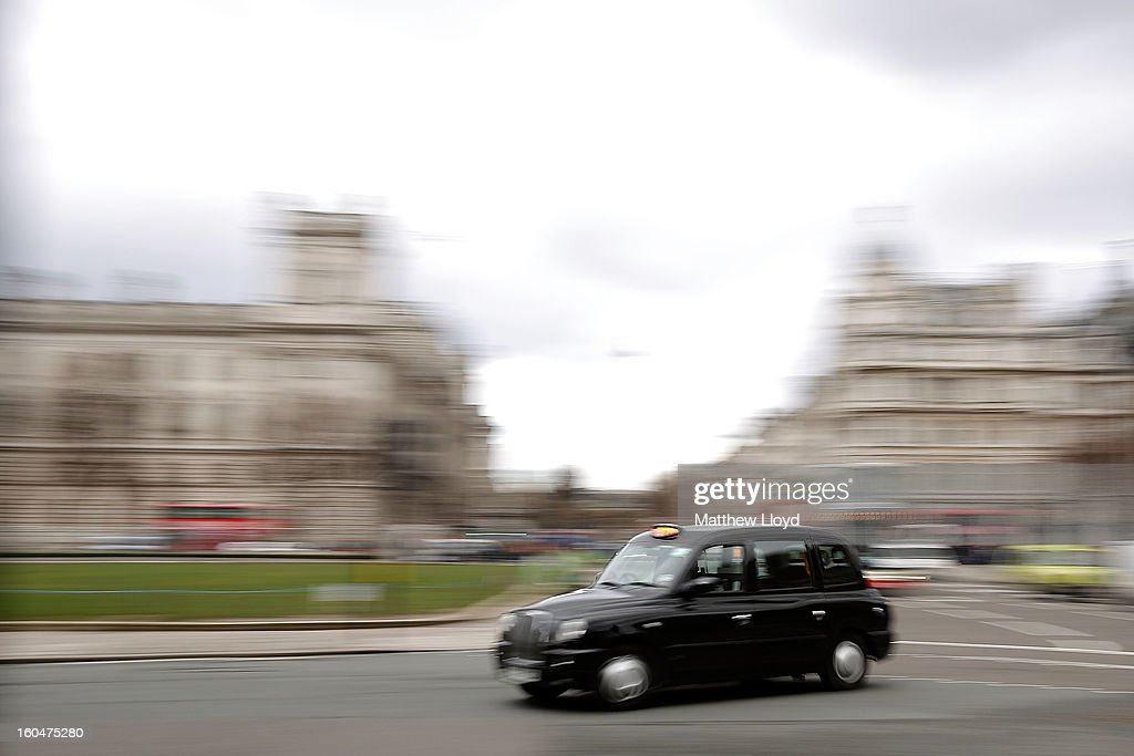 A London cab made by LTI, a subsidiary of Manganese Bronze on February 1, 2013 in London, England. Manganese Bronze has been sold to Chinese car manufacturer Zhejiang Geely, who have expressed a desire to rebuild the financial position of the company and expand the export operation for the traditional taxis.