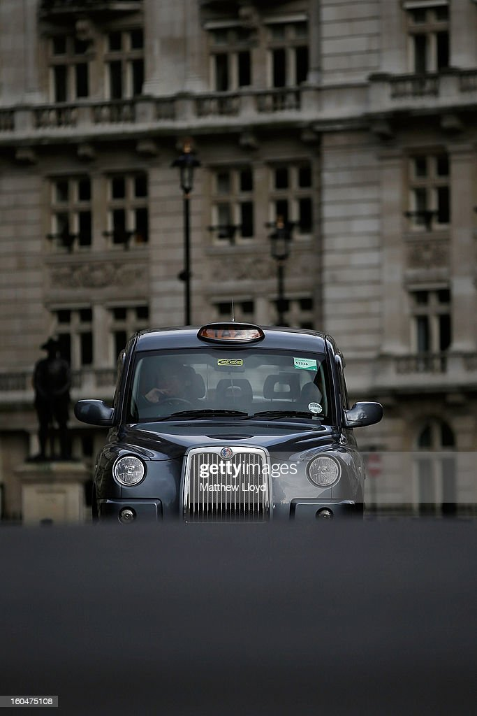London cabs made by LTI, a subsidiary of Manganese Bronze on February 1, 2013 in London, England. Manganese Bronze has been sold to Chinese car manufacturer Zhejiang Geely, who have expressed a desire to rebuild the financial position of the company and expand the export operation for the traditional taxis.