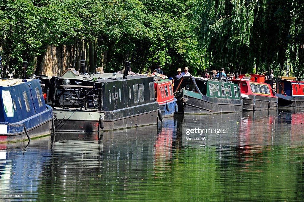 UK, London, Camden, house boats on Regents Canal