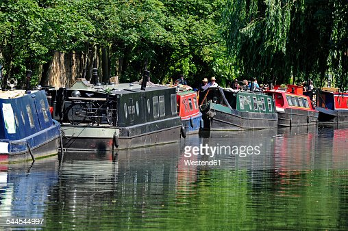 UK, London, Camden, house boats on Regents Canal