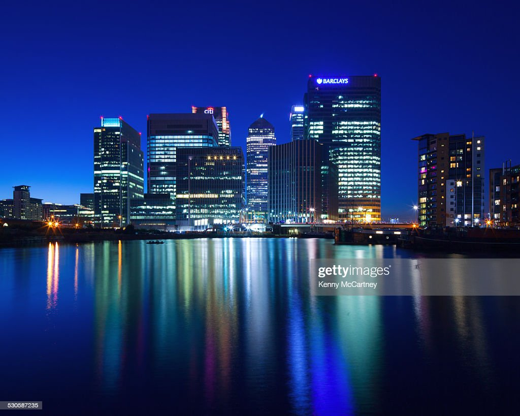 London - Canary Wharf from Blackwall Basin