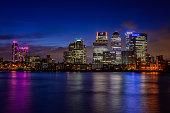 London Canary Wharf skyscrapers
