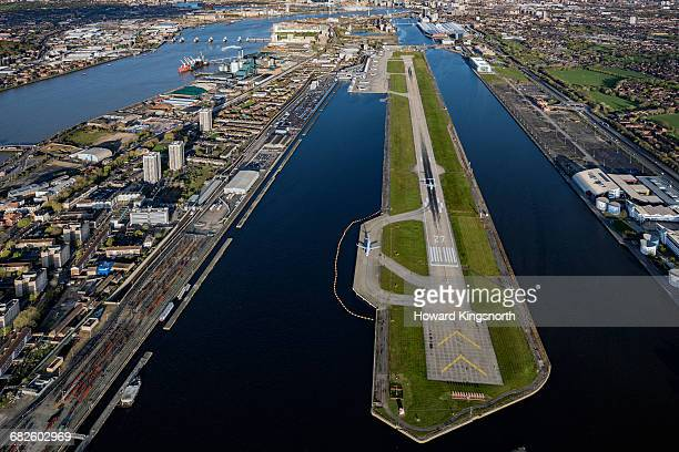 London City airport, aerial view