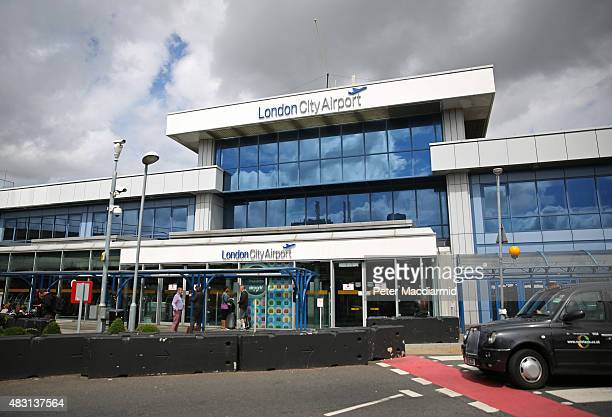 London City Airport passenger terminal on August 6 2015 in London England US company Global Infrastructure Partners has announced that it is to sell...