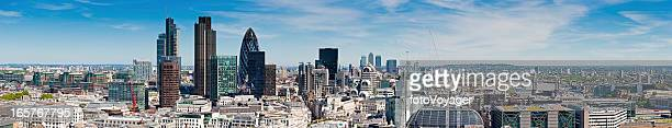London City Financial District skyscrapers panorama