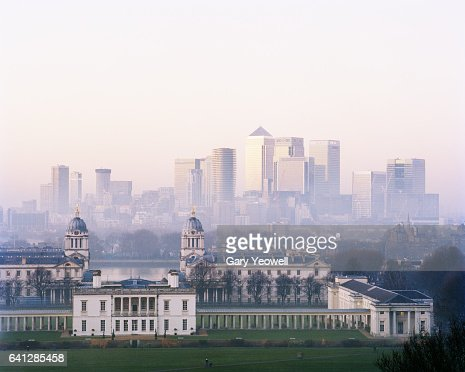 London city from Greenwich : Stock Photo